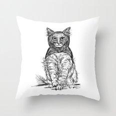 BAT CAT Throw Pillow