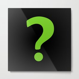Enigma - green question mark Metal Print