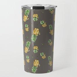 Kaki pineapple pattern Travel Mug