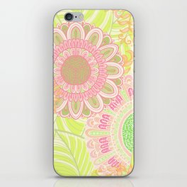 Hand Drawn Floral & Mandala 07 iPhone Skin