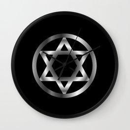 The seal of Solomon- a magical symbol or Hexagram Wall Clock