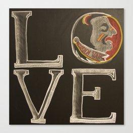 nole love chalk Canvas Print
