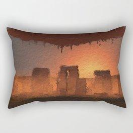 UFO Stonehenge Rectangular Pillow