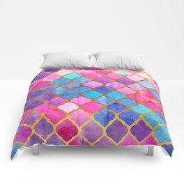 Geometric Turkish pattern. Watercolor. Comforters
