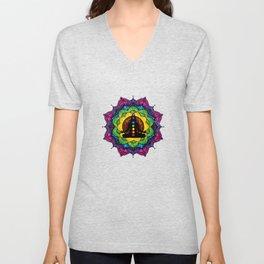 Chakra Meditation Mandala  Unisex V-Neck
