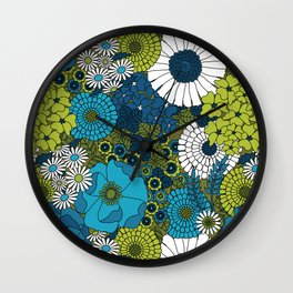 Vintage Florals Chrysanthemum Wall Clock