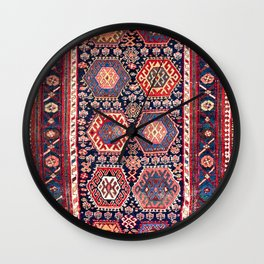 Kurdish Northwest Persian Rug Print Wall Clock
