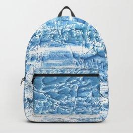 Steel blue nebulous watercolor texture Backpack