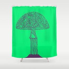 Mushroom purple Shower Curtain
