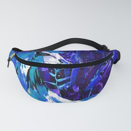 HORSE INDIGO BLUE AND DRAGONFLY NIGHTS Fanny Pack