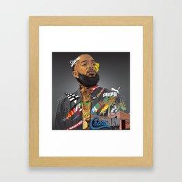 Nip Hussle The Great Framed Art Print
