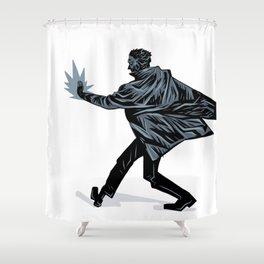 Noir Fireball Shower Curtain
