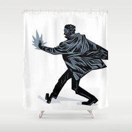 Noir Fireball Shower Curtain