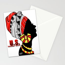 Black Queen (red) Stationery Cards
