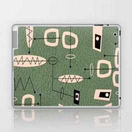 Mid-Century Atomic Green Abstract Laptop & iPad Skin