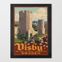 Vintage poster - Visby Canvas Print