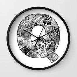 Cutout Letter Q Wall Clock