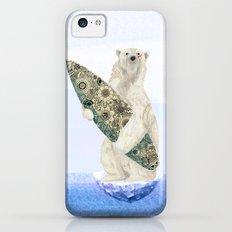 Polar bear & Surf (black) iPhone 5c Slim Case