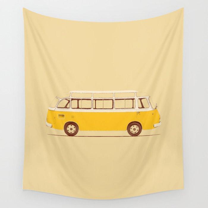 Yellow Van II Wall Tapestry