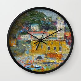 Oil painting. Italy. Colorful painting Wall Clock