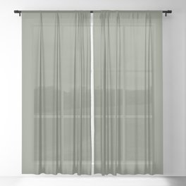 Mellow Earth Green Pairs with Magnolia Paints Olive Grove JG-09 Sheer Curtain