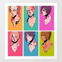 bleach Art Prints featuring bleach by aspiin