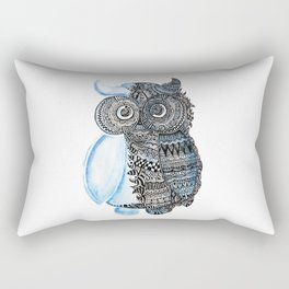watercolor owl Rectangular Pillow