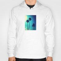 palm trees Hoodies featuring Palm Trees by Derek Fleener
