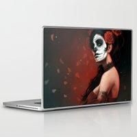 dia de los muertos Laptop & iPad Skins featuring Dia de los Muertos by Giorgio Baroni
