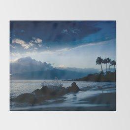 Polo Beach Dreams Maui Hawaii Throw Blanket
