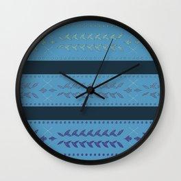 Malibu Turquoise Blue Wall Clock