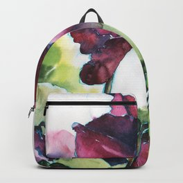 Cyclamen watercolor, pink flowers Backpack