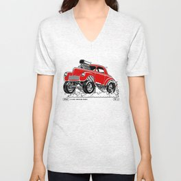 1941 WILLYS Classic Rodder - RED Unisex V-Neck