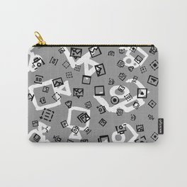 pattern with symbols of photos and videos Carry-All Pouch