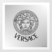versace Art Prints featuring Versace by Beauti Asylum
