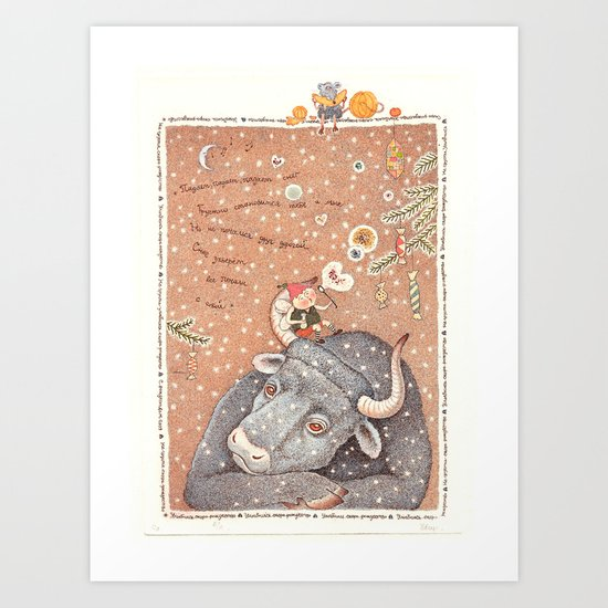 The year of OX  Art Print
