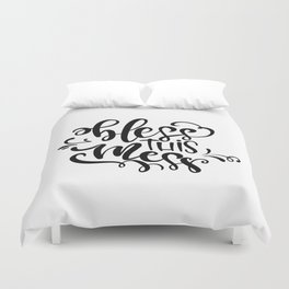 Bless This Mess Thanksgiving Duvet Cover