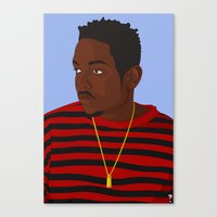 kendrick lamar Canvas Prints featuring Kendrick Lamar by KeithSquirrel