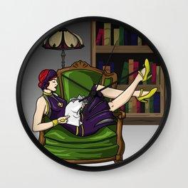 Well-Read Batgirl Wall Clock