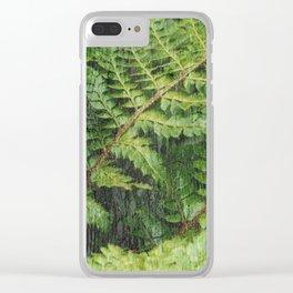 Fern Fronds Clear iPhone Case