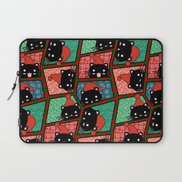 Christmas Black Cats Laptop Sleeve