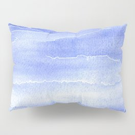 Abstract Aquarelle in blue Pillow Sham