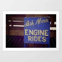 Engine Rides Art Print