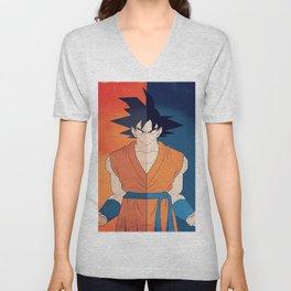 Minimalistic Goku Unisex V-Neck