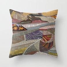 The Land Mosaic Throw Pillow