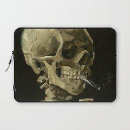 SKULL OF A SKELETON WITH BURNING CIGARETTE - VINCENT VAN GOGH Laptop Sleeve