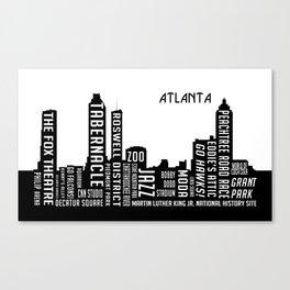 Skyline Atlanta Canvas Print