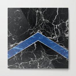 Arrows - Black Granite & Blue Granite #595 Metal Print