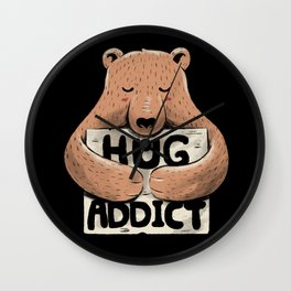 Hug Addict Wall Clock