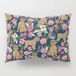 Brussels Griffon florals pattern for dog lovers custom pet friendly gifts for all dog breeds Pillow Sham